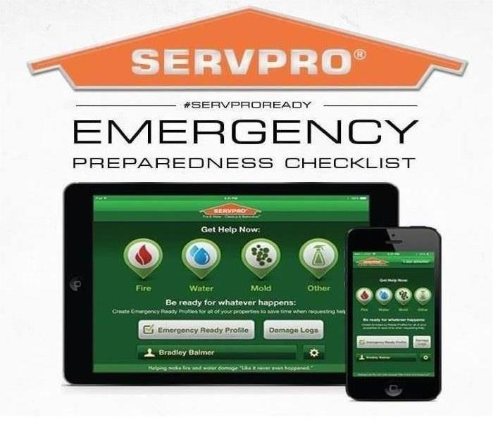 The Emergency Ready Profile App shown here on mobile devices.