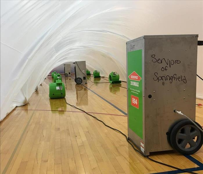 Gym Floor Drying Servpro Of Springfield And Sangamon Morgan